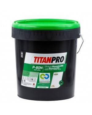 Titan Pro Peinture acrylique blanche Biosotenible P80N 15L Titan Pro